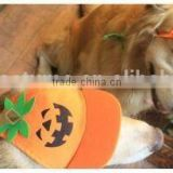 pumpkin base ball cap for dog , dog pumpkin base ball cap,pumpkin dog hat
