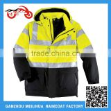 China Factory Custom ANSI Class 3 Waterproof Winter Hi Vis 3M Reflective Safety Parka Jacket