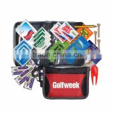 Golf Kit - has rain poncho, insect repellent, sunscreen, golf tees, golf pencil, divot tool, bandages and comes with your logo