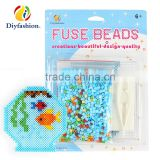 Diyfashion 5mm hama perler fuse beads Goldfish bowl set with puzzle iron paper and twezzer hama beads toys for kids 18091