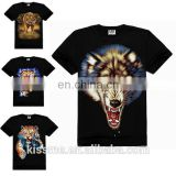 New Style Animal T Shirt Printing Wholsale Animal Printed 100% Cotton T Shirt