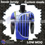 Custom manufacture High Quality Low MOQ sublimated soccer jerseys