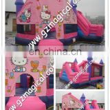 pink kitty inflatable bouncing castle/ kids fun jumping castle/ inflatable castle funny toy