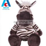 Lovely plush zebra toys 30cm sitting position custom logo