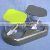 plastic condiment holder,condiment set,table condiment holder