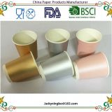 Foil Gold/Silver/Pink Paper Cups Birthday Party Drinking Decor Tableware Disposable Wedding Supplies
