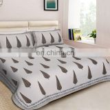 Cheap Wholesale Custom Luxury design low price jaipuri handmade bedsheets with pillow cover