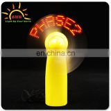 Light up fan with customered message