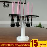Factory custom hot selling PMMA makeup brush display plexiglass makeup brush display stand acrylic makeup brush holder