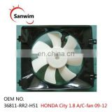 HON-DA Ci-ty 1.8 air-cooled condenser fan 09 10 11 12 A/C FAN om:36811-RR2-H51