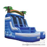 Inflatable slip and slide inflatable water slide axs-03