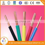 0.75mm 1mm 1.5mm 2.5mm 4mm 6mm 10mm pvc insulated Bare Copper Stranded electrical cables and wires (bv cable)