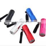 Mini Portable Light Ultra Violet 395-400nm Torch 9 LED UV Flashlights
