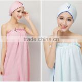wholesale china factories support sample order colorful a set with shower cap microfiber beach towel / sexy bath towel beach set