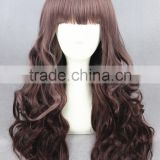 65cm medium brown color cosplay Lolita wig anime cosplay for women