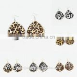 12 Pairs A Lot Mixed Wholesale Charm Multi Colors Tear Drop Design Leopard Ear Cuff Earrings