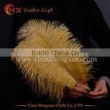 Wholesale cheap gold ostrich feathers 14-16 inch for party decoration