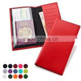 Promotional cheap artificial leather travel wallet