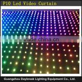 Background Led curtain Velvet cloth RGB full color Video curtain Stage Wedding Bar led screen