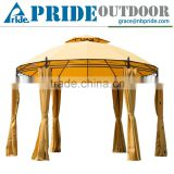Double Top Round Outdoor Luxury And Beauty Steel Round Metal Canopy Gazebo
