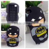 Batman Cell Phone Case 3D Cute Cartoon Fun Mobile Phone Silicone Case For iphone 4/4s/5/5S/6/6 PLUS Samsung Series Wholesale