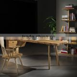 Elegent wooden office desk with drawer 2 person office desk and chair functional solid wood table