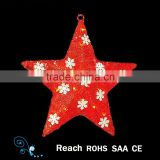 christmas decoration supplies lovely star hanging for christmas tree ornaments low price