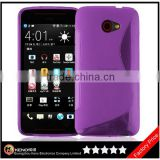Keno Hot Selling Soft Silicone TPU Back Cover for HTC Butterfly S Case with S Line Design