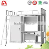 Professional double decker metal bunk bed made in China
