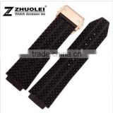 New Arrival Waterproof Black Silicone Rubber WristWatch watch Strap Band Replacement 26mm