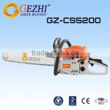 2 stroke chain saw brush cutter 52cc woodworking cutter low vibration high cutting capacity CS-5200