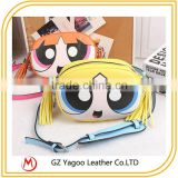 New 2016 fashion cute cartoon synthetic women leather messenger bag Occident tassels cross body bag