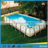 2014 hot sale above ground galvanized steel swimming pool
