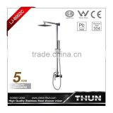 High end surface mounted hot and cold square shower