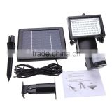 60 LEDs PIR Human Body Motion & Light Sensor Solar Powered Panel Security Lamp Floodlight House Home Garage Yard Pool Pond Shed