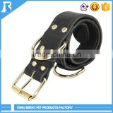 Berry Pet Products Strong Soft Genuine braided leather dog collars and leashes , Dog Collar