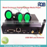 RDB Metal Enclosure Digital Signage Media Player with external Wi-Fi and Antenna DS009-119