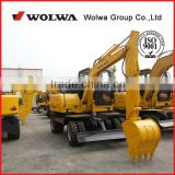 DLS865-9A 5.8Ton china wheel excavator used for digging ditches and rural reformation
