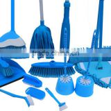 Best Selling Colourful Plastic Household Cleaning Tools Set, Brooms, Mops, Brushs, Plunger, Gloves, Window Squeegee