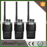 Wireless hands free 5w two radio walkie talkie