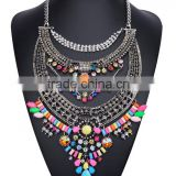 Factory Wholesale Black Color Plated Alloy Necklace Trendy Women Statement Necklace N6009