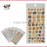 eva foam puffy sticker/sponge puffy letter stickers/3d foam puffy sticker