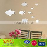 Home Decoration Small Fish Laser Cut Acrylic Mirror Letter Wall Decal