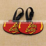 Cute bean shape luggage tag plastic/ red pvc baggage tag for girls wholesale                                                                                                         Supplier's Choice