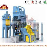 Specifically CE Approved Rubber Belt Tumble Shot Blasting Machine / Mini Sandblasting Machine