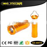 Onlystar GS-4007A fashion projection strong light zoom ningbo oem 1w led camping flashlight