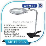 Hot selling Desktop gooseneck magnifier glass with book clip (BM-MG2013)