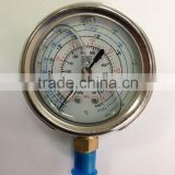 SR Oil Filled Pressure Gauge for Air Conditioner, Refrigeration, Refrigerant Gas Low High Pressure gauge