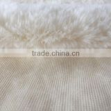 100% polyester fake rabbit fur velvet blanket fabric thick soft rabbit long plush fur cushion fabric