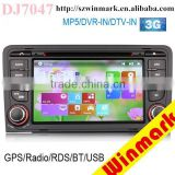 Windows system 2 din Car Radio for Audi A3 2003-2012 with GPS Ipod/Iphone DVR digital TV BT Radio 3G DJ7047